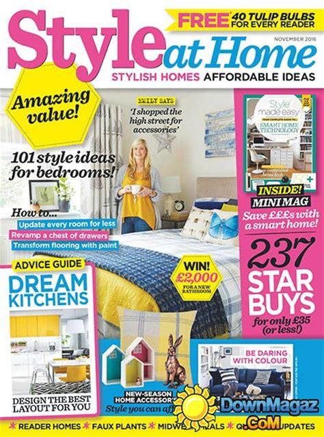 home decor magazines uk style at home uk november 2016 187 download pdf magazines