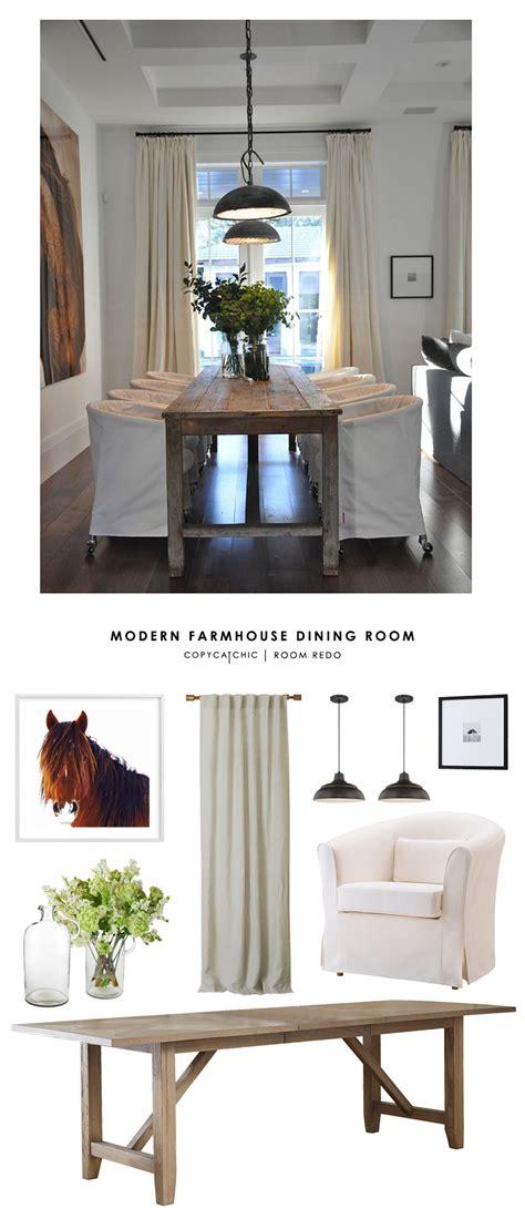 copy cat chic room redo modern farmhouse dining room