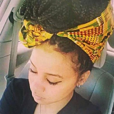 Black Braided Hairstyles With Bandana - Lovely Braided ... Box Braids With Bandana