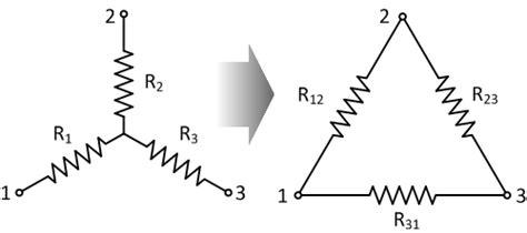 resistor y dan delta resistor delta connection diagram