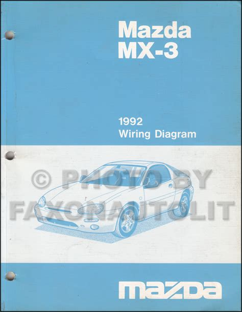 car service manuals pdf 1992 mazda mx 3 navigation system 1992 mazda mx 3 wiring diagram manual original