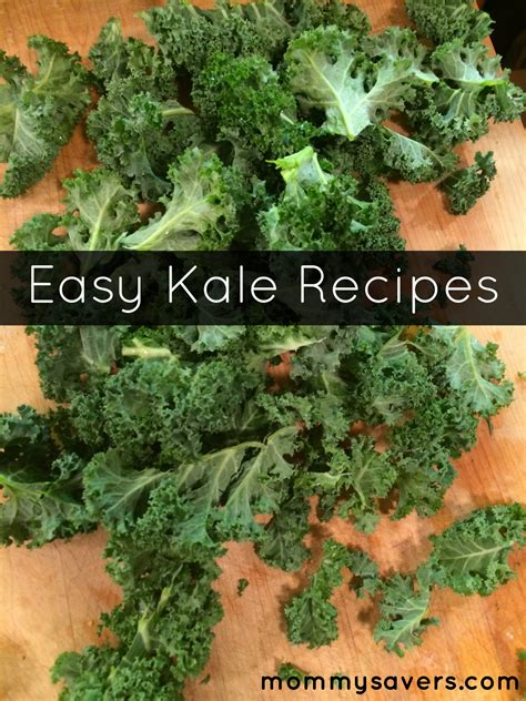 easy kale recipes mommysavers