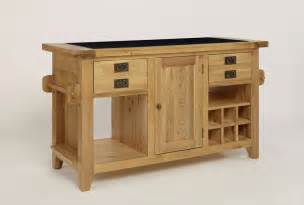 Kitchen Island Unit by Provence Oak Granite Top Kitchen Island Unit
