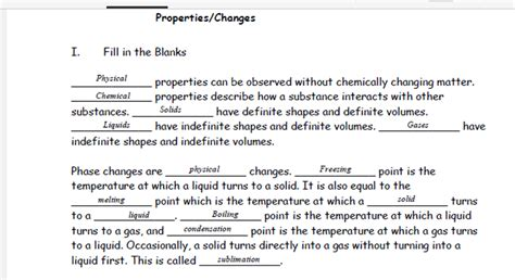 Changes In Society Worksheet Answers by Worksheet Physical And Chemical Change Worksheet