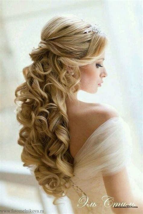 half up half down hairstyles long curly hair half up half down for curly hair pretty designs