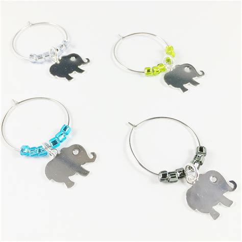 Baby Shower Wine Charms by Baby Elephant Wine Charms Therapy Wine