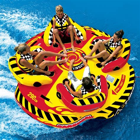carousel towable spinning tube 4 persons sp53 2285 - Round Spinning Boat Tube
