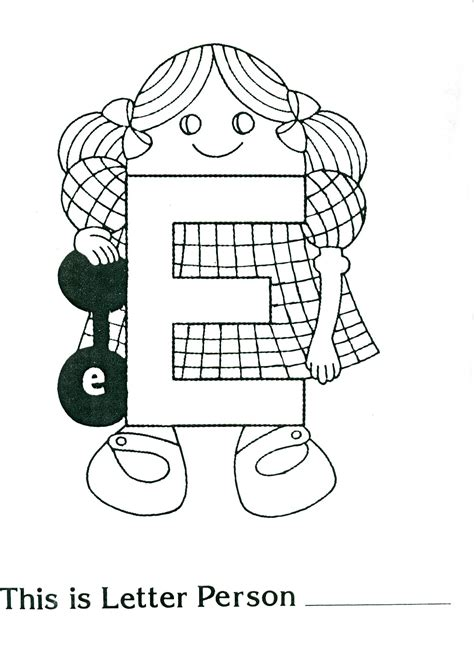 free coloring pages of letter people