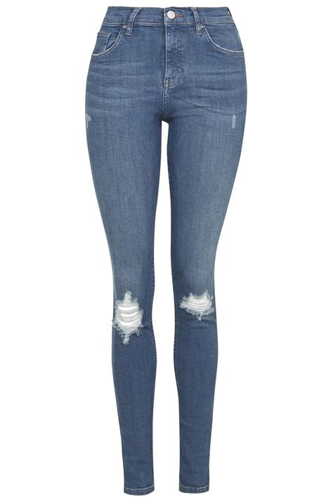 Blue Ripped moto blue ripped topshop