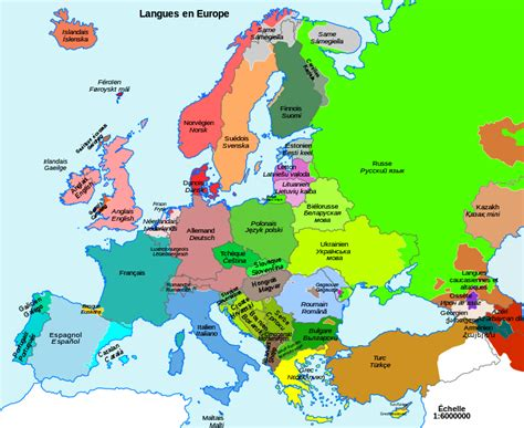 map de l europe modern linguistic map of europe indo european languages map