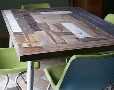 How To Resurface A Table With Reclaimed Wood Diy Kitchen Table Top