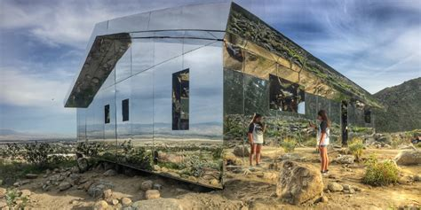 mirrored house this amazing mirrored house exhibit reflects the coachella