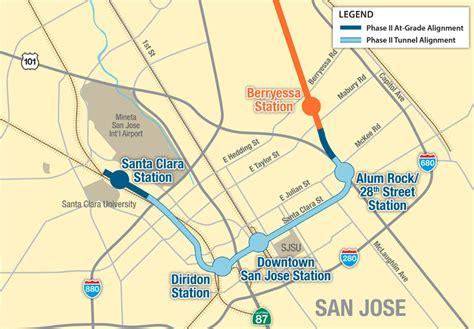 bart san jose extension map single bore option for bart to san jose