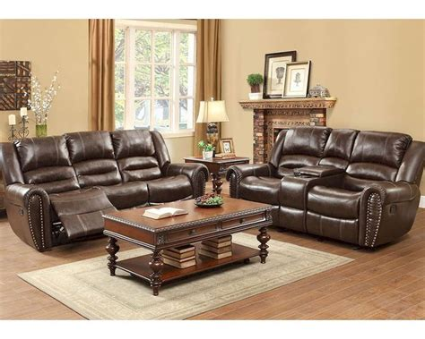 brown sofa set reclining brown sofa set center hill by homelegance el