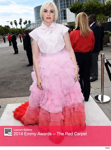 Are The Second Worst Dressed Tourists After The Americans Newsvine Fashion 2 2 by Lena Dunham At The 2014 Emmy Awards What Was She