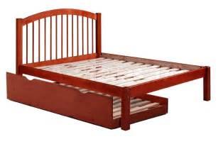 trundle beds alaska spindle headboard platform bed with trundle in mahogany kids beds pif 2132 trundle 9