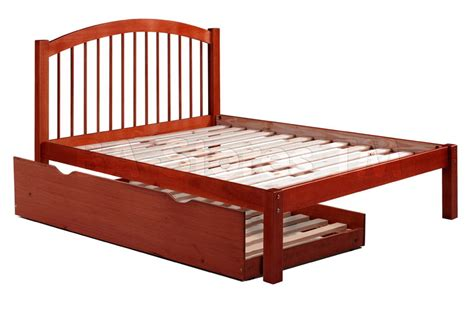 alaska spindle headboard platform bed with trundle in