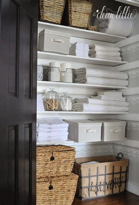 bathroom closet organization ideas top 25 best linen storage ideas on pinterest organize a