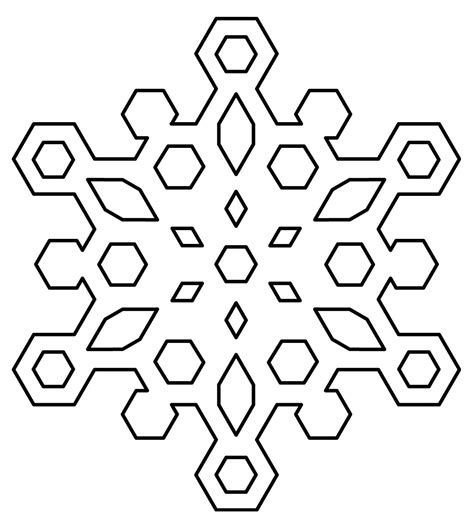 blank snowflake coloring page clip art blank snowflake coloring page b w snow