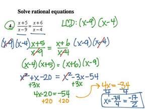 solving rational equations worksheet tessshebaylo