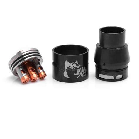 Rda Doge V2 22mm Harga doge v2 style rda rebuildable atomizer black stainless steel 22mm diameter 3fvape