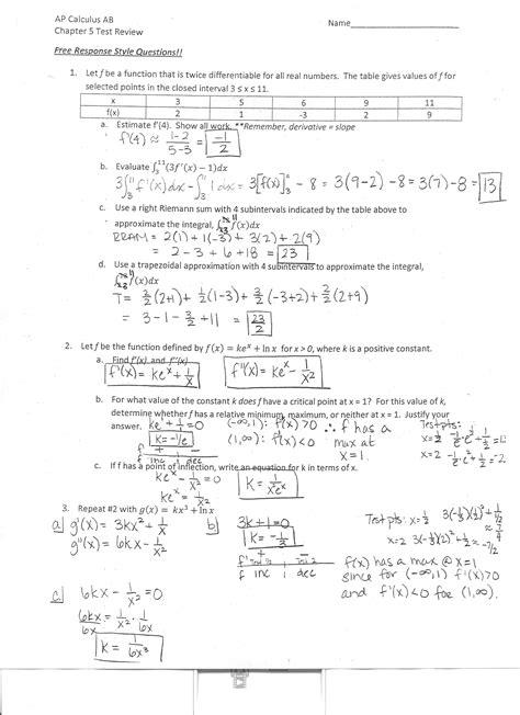 Calculus Worksheets by Ap Calculus Worksheets Photos Getadating
