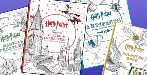 harry potter coloring book places and characters more harry potter coloring books set to debut