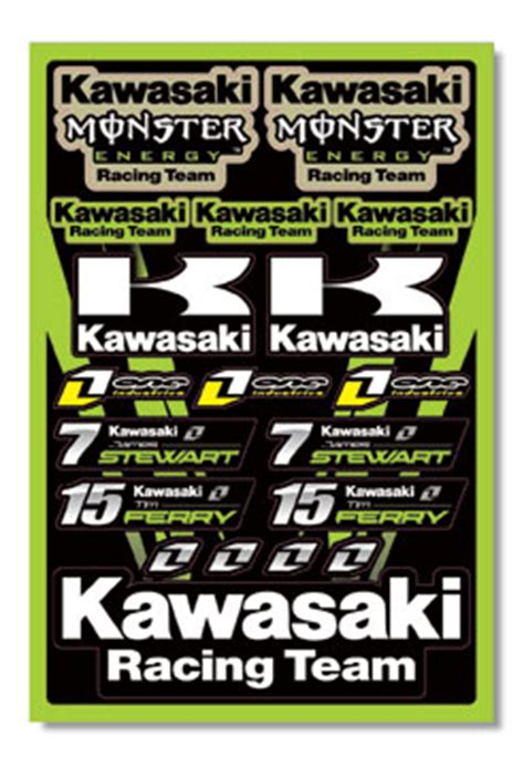 Monster Aufkleber Kawasaki by Monster Energy Kawasaki Sticker Kit