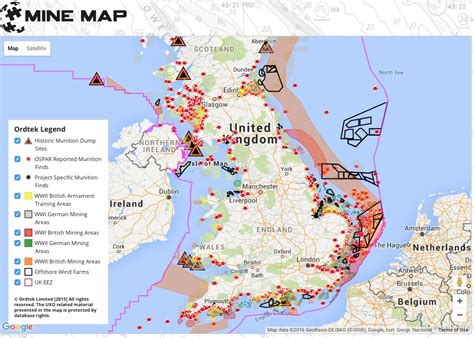 map uk wind farms map reveals explosive danger at offshore energy