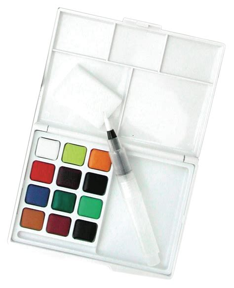 Koi Water Color Pocket Set 18 save on discount koi watercolor paint set travel pocket size 12 half pans more sets