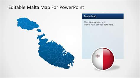 Malta Powerpoint Map Template Slidemodel Map Powerpoint Template