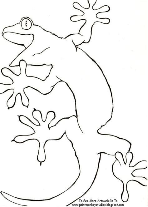 gecko coloring page az coloring pages