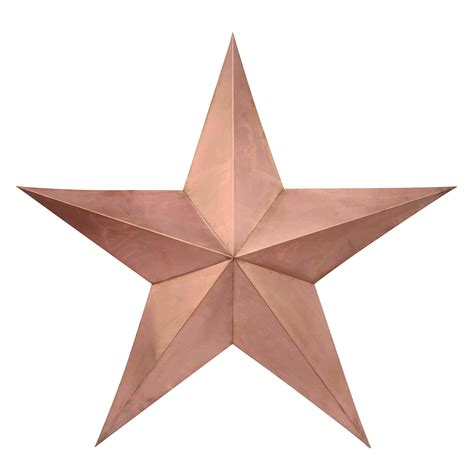 Decorative Stars For Homes | 11 quot rose gold star decorative barn wall stars