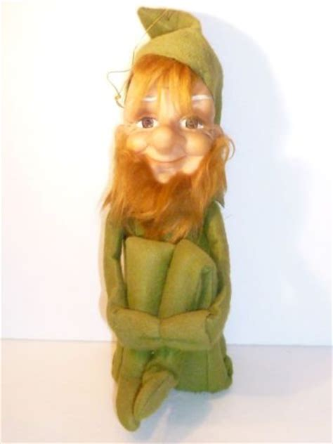 Fashioned On The Shelf by Vintage Green Hugging Knee Bearded Pixie On A Shelf