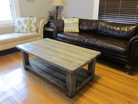 woodwork rustic wood coffee table plans  plans