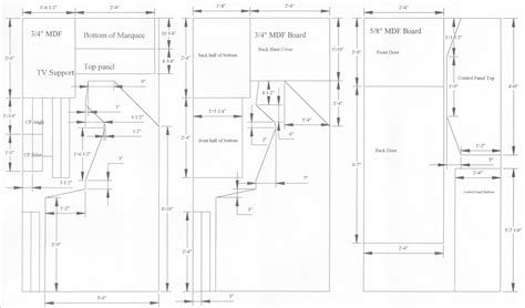arcade cabinet plans pdf woodworking cabinet plans arcade pdf free