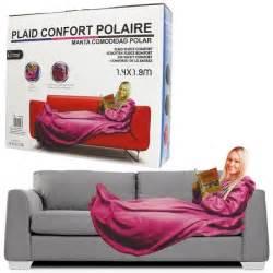plaid polaire couverture confort avec manches l achat