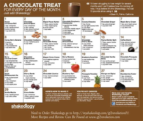free printable vegan recipes chocolate shakeology recipe calendars gf2 revolution