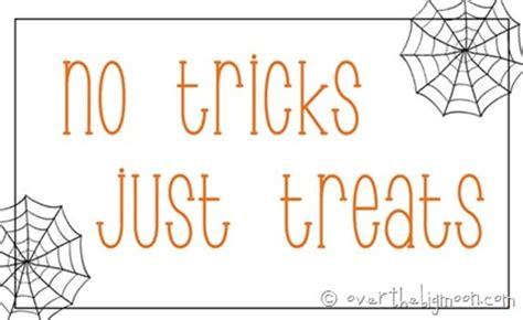 No Tricks All Treats by No Tricks Just Treats Free Printable Tags