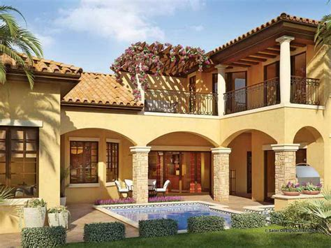 single story mediterranean style homes color simple