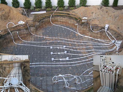 Inground Swimming Pool Plumbing by Gunite Pool Construction Process Landi Pools