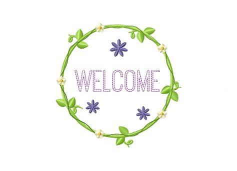 embroidery design welcome software welcome wreath machine embroidery design daily embroidery