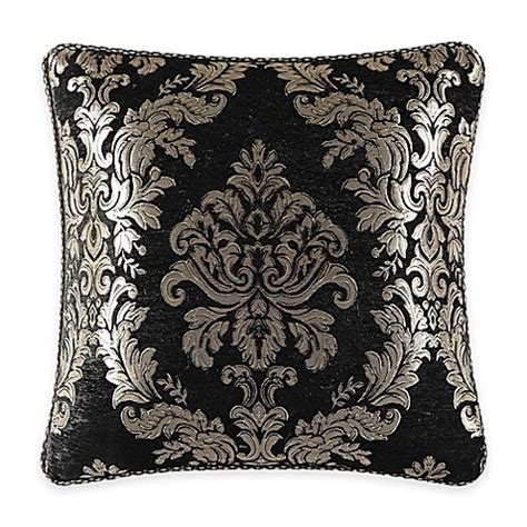 black throw pillows bed bath and beyond j new york portofino damask square throw pillow in