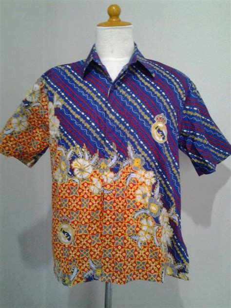 Kemeja Pria Club Sepak Bola Kemeja Ajaxjerseytermurah baju batik bola batik motif bola batik bola murah batik