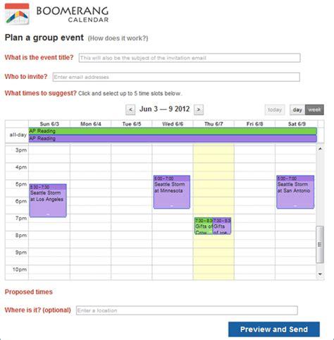 Boomerang Calendar Boomerang Calendar Gmail Calendar Integration