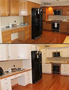 Painting Oak Kitchen Cabinets Before And After Cabinetry Refinishing Starlily Design Studio