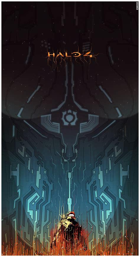artist matt ferguson does an awesome poster for drive awesome halo 4 art by matt ferguson geektyrant