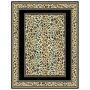 Leopard Print Area Rug Leopard Print Border Area Rug 226523 Rugs At Sportsman S Guide