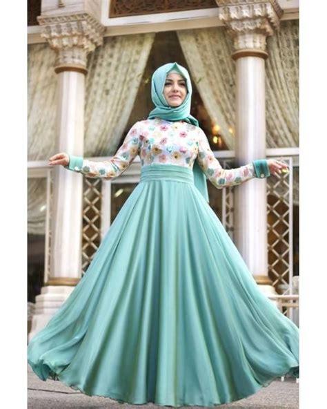 Ayako Fashion Dress Maxi Yu 2 Warna turquoise hijabi maxi dress fashion