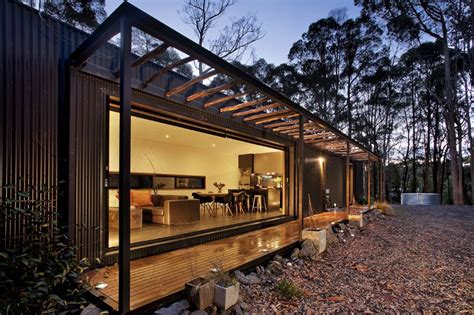design house studio victoria musk bunker modern prefab cabin by modscape